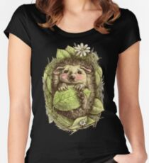 Little hedgehog colored Women's Fitted Scoop T-Shirt