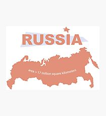 infographics Russia Photographic Print