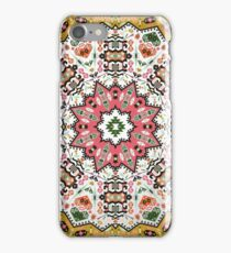 Ornamental round colorful geometric pattern in aztec style iPhone Case/Skin