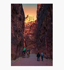 Jordan. Petra. Gorge. Sunset. Photographic Print