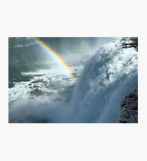 Rainbows Over the Falls Photographic Print