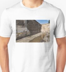 Reflecting on Ancient Pompeii - Quiet Sunny Courtyard T-Shirt