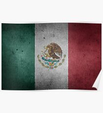Mexico Flag Grunge Poster
