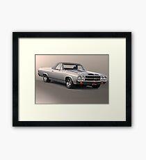 1971 Chevrolet El Camino SS 'Cowl Induction' Framed Print