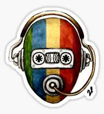 Retro self music Sticker