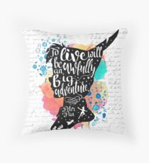 Peter Pan - To Live Throw Pillow