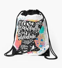 Peter Pan - To Live Drawstring Bag