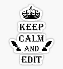 Keep Calm and Edit Sticker