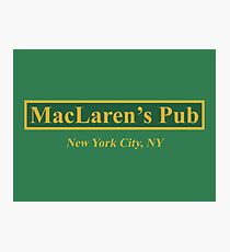 MacLaren's Pub, New York – How I Met Your Mother Photographic Print