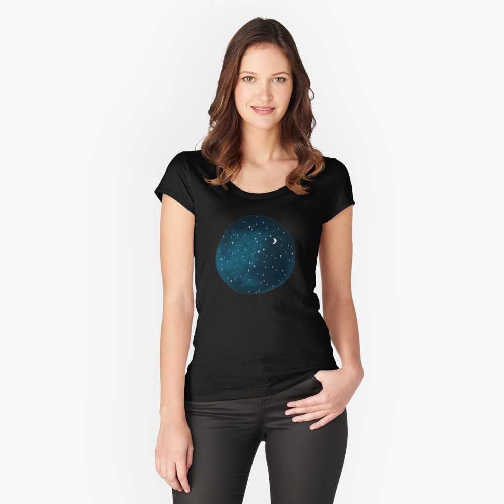 the stars, the moon, they have all been blown out Women's Fitted Scoop T-Shirt Front