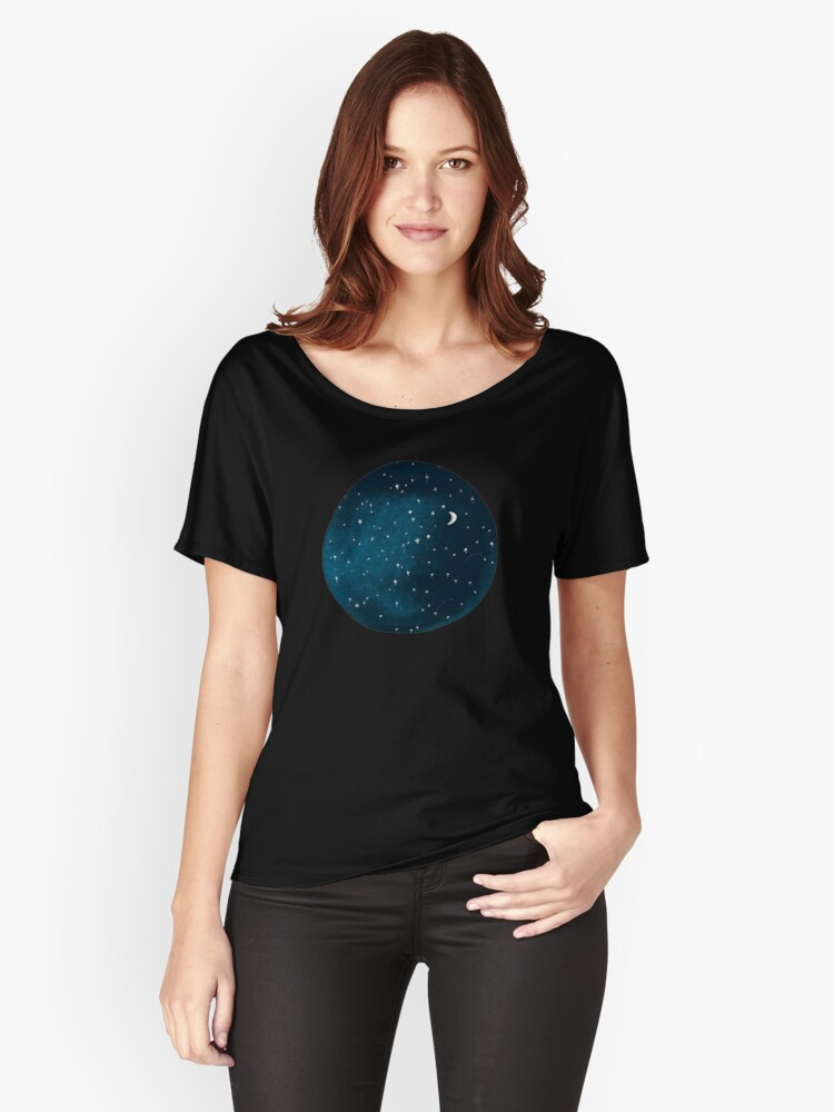 the stars, the moon, they have all been blown out Women's Relaxed Fit T-Shirt Front