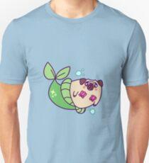 Mops-Meerjungfrau Slim Fit T-Shirt