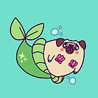 Pug Mermaid by SaradaBoru