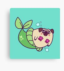Pug Mermaid Canvas Print