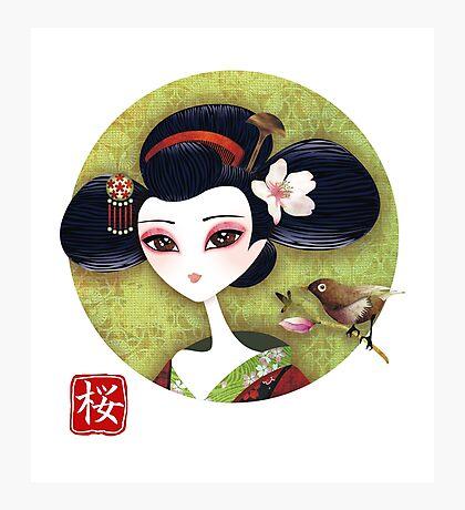 Sakura Girl Reloaded Photographic Print
