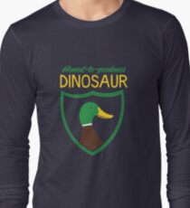 Honest-To-Goodness Dinosaur: Duck (on dark background) Long Sleeve T-Shirt