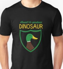 Honest-To-Goodness Dinosaur: Duck (on dark background) Unisex T-Shirt