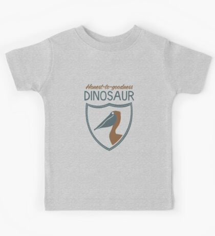 Honest-To-Goodness Dinosaur: Pelican (on dark background) Kids Clothes