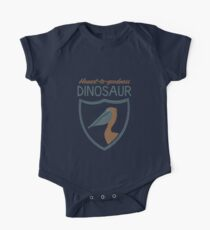 Honest-To-Goodness Dinosaur: Pelican (on dark background) One Piece - Short Sleeve