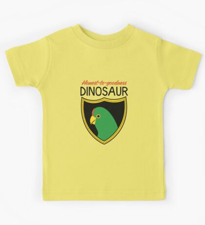 Honest-To-Goodness Dinosaur: Parakeet (on light background) Kids Clothes