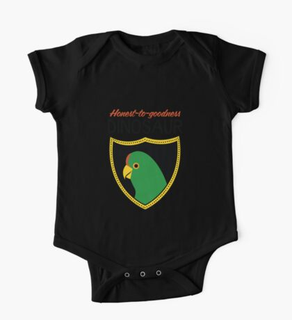 Honest-To-Goodness Dinosaur: Parakeet (on light background) Kids Clothes