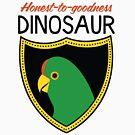 Honest-To-Goodness Dinosaur: Parakeet (on light background) by David Orr