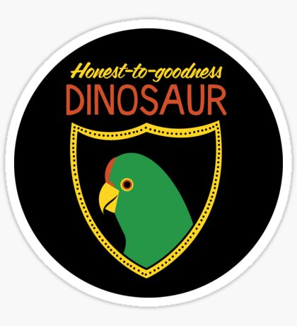 Honest-To-Goodness Dinosaur: Parakeet (on light background) Sticker