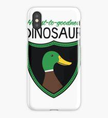 Honest-To-Goodness Dinosaur: Duck (on light background) iPhone Case