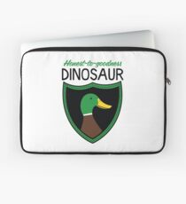 Honest-To-Goodness Dinosaur: Duck (on light background) Laptop Sleeve