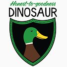 Honest-To-Goodness Dinosaur: Duck (on light background) by David Orr