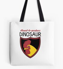 Honest-To-Goodness Dinosaur: Rooster (on light background) Tote Bag