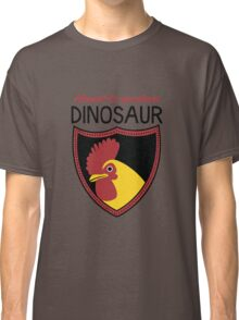 Honest-To-Goodness Dinosaur: Rooster (on light background) Classic T-Shirt