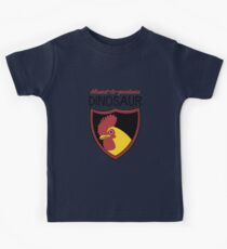 Honest-To-Goodness Dinosaur: Rooster (on light background) Kids Tee