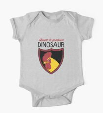 Honest-To-Goodness Dinosaur: Rooster (on light background) One Piece - Short Sleeve