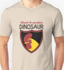 Honest-To-Goodness Dinosaur: Rooster (on light background) Unisex T-Shirt
