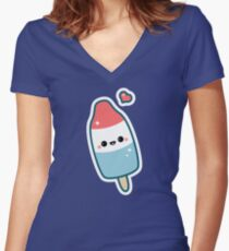 Kawaii Popsicle Women's Fitted V-Neck T-Shirt