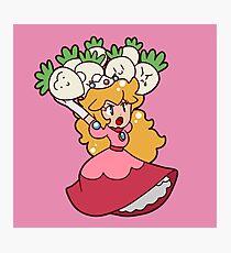 Princess Peach with Turnips Photographic Print