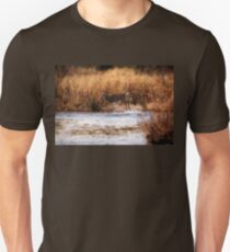 White Tail Deer jumping into the Creek - Parc National Mont Tremblant T-Shirt