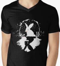 Crazy rabbit! Men's V-Neck T-Shirt