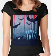 Blue Stone Landscape Women's Fitted Scoop T-Shirt