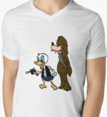 Duck Solo Mens V-Neck T-Shirt