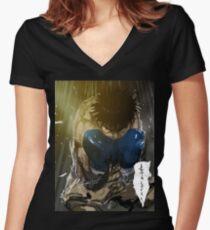 manga, anime -hajime no ippo- Women's Fitted V-Neck T-Shirt