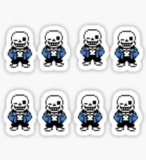 Undertale - Sans Sticker (8 pack) Sticker