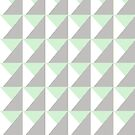 Geometric Triangles / Mint White Grey by pizzazzdesign