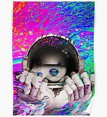 Psychedelic Astronaut (Vintage Effect) #2 Poster