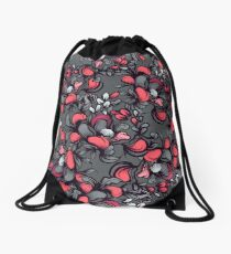 Floral composition with wild berries. Drawstring Bag