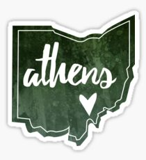 Athens, Ohio - Watercolor Heart Sticker