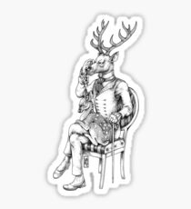Deer and Fawn Sticker