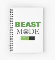 WellnessCoaches Beast Mode On Unisex Spiral Notebook