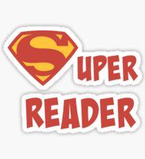 Super reader Sticker